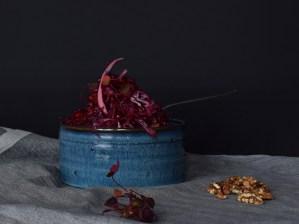 vintersalat med rødkål og rødbede