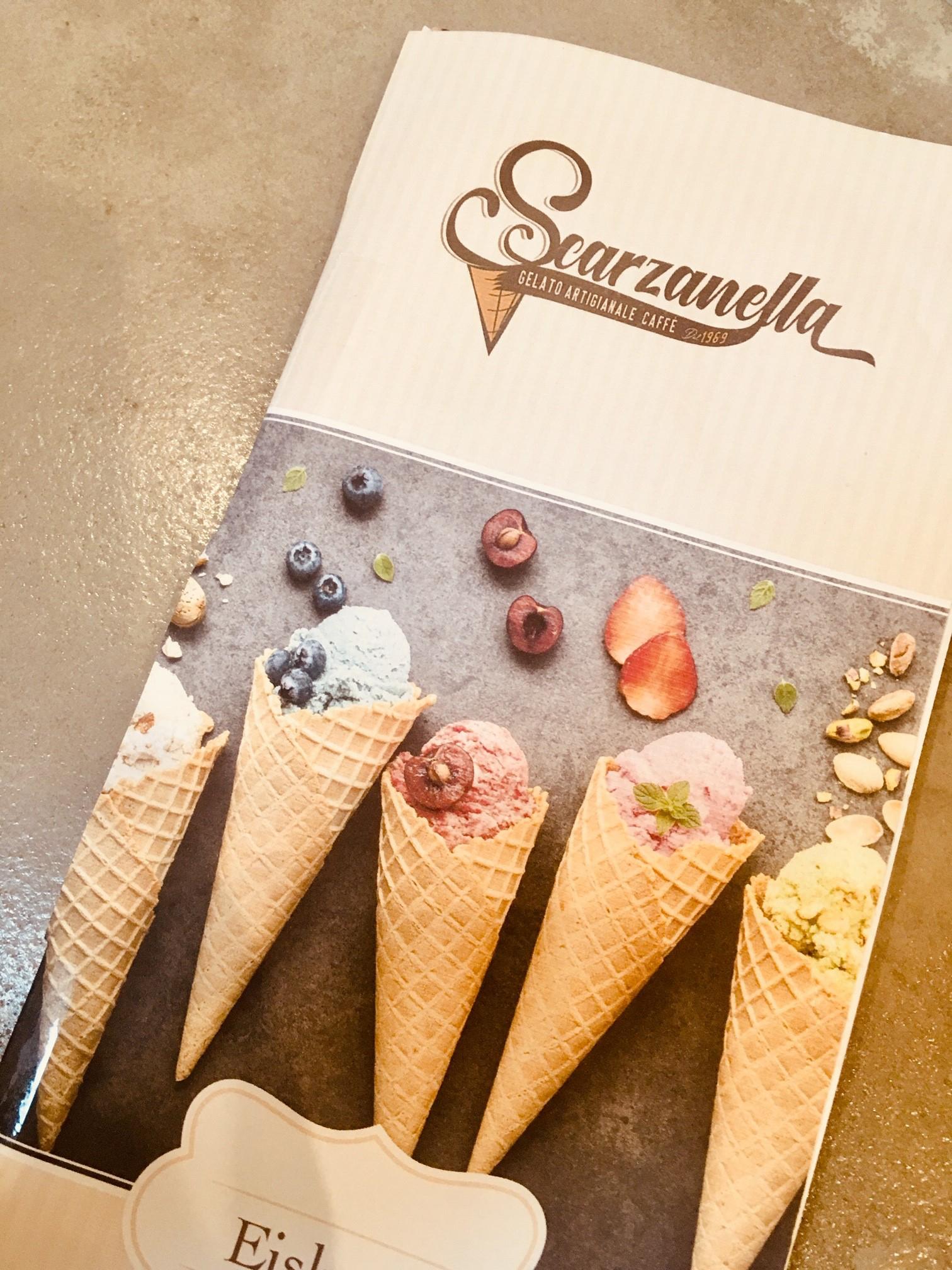 Design-Entwurf Eiskarte