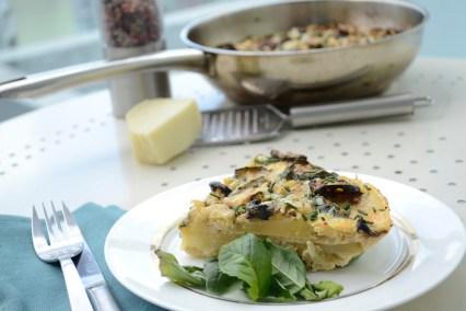 frittata omelette layers, omelette portion, spanish tortilla, tortilla fresh herbs, vegetarian frittata, frittata blog