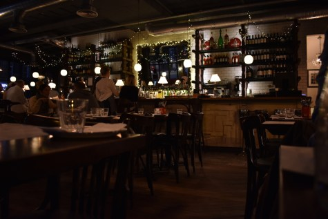 Bacaro Liverpool interior bar restaurant tables lights italian gastrogays