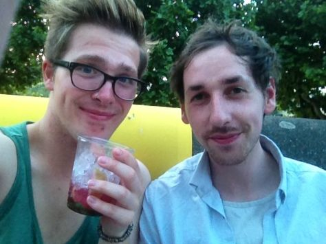 Russell James Alford and Patrick Hanlon in London