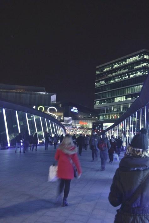 stratford westfield shopping centre walkway bridge view e15 london