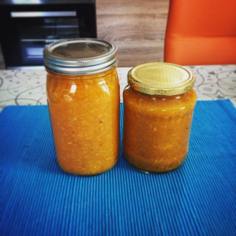 Narancsos sütőtök lekvár (Orange pumkin jam)