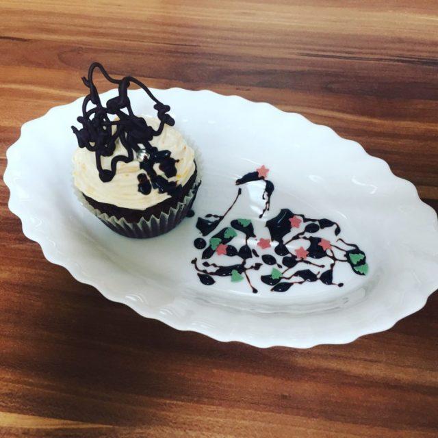 cupcake, narancs, sütőtök, díszítés