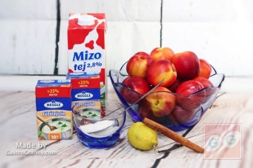 Hozzávalók-Hideg barackleves főzés nélkül