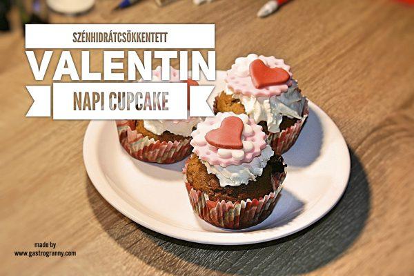 A szénhidrátcsökkentett Valentin napi cupcake