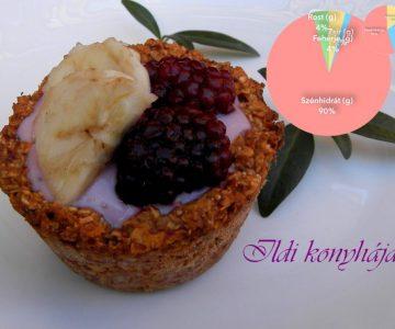 Gyümölcsös granola kosárka -Ildi receptje-