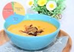 Sütőtökkrém leves szalonna chipsszel, napraforgó maggal