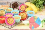 Banános cukkinis muffin
