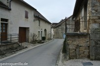 Blick in die Straßen von Châton-Chalon.
