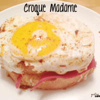 Open Face Croque Madame