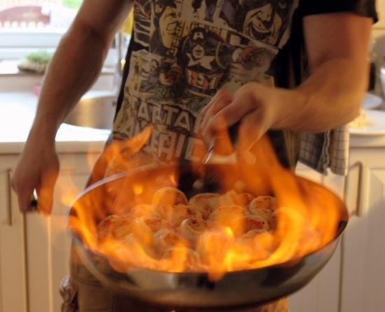 Flamberede kammuslinger