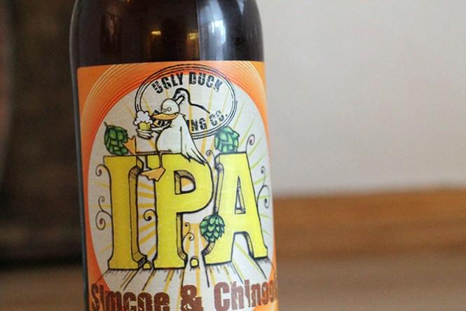 Den ene af to IPA'er fra Ugly Duck
