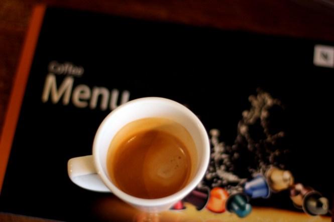 Cafe-Menu fra Nespresso og en af deres mest intense espressoer...