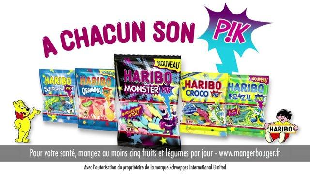 Haribo Pik - med forskellig smag...