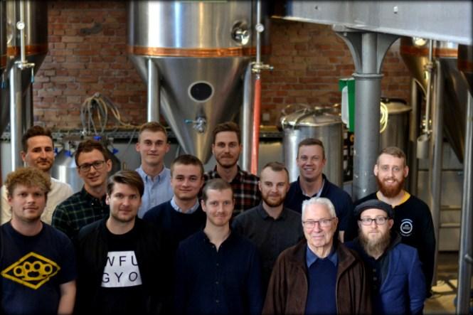 The Crew - Gastromand.dk, Nørrebrobryghus, vinderne af konkurrencen og Kasper fra Humulus Lupulus ...