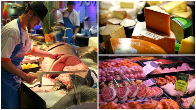 The English Marked - læg mærke til sværdfisken som lige skæres ud!