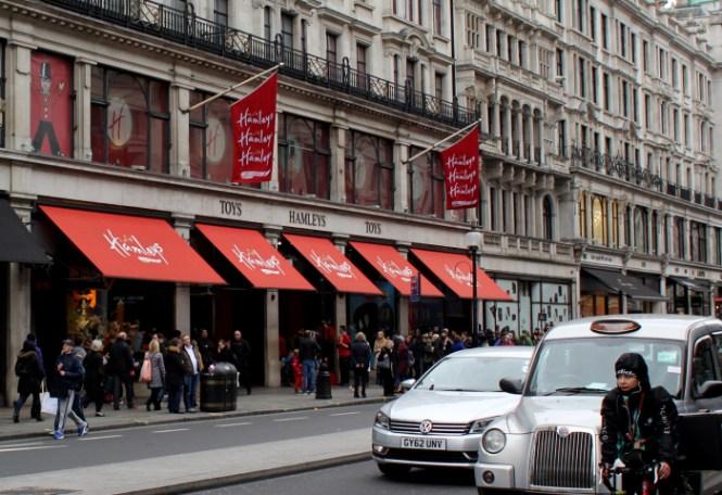 Hamleys på Regent Street...