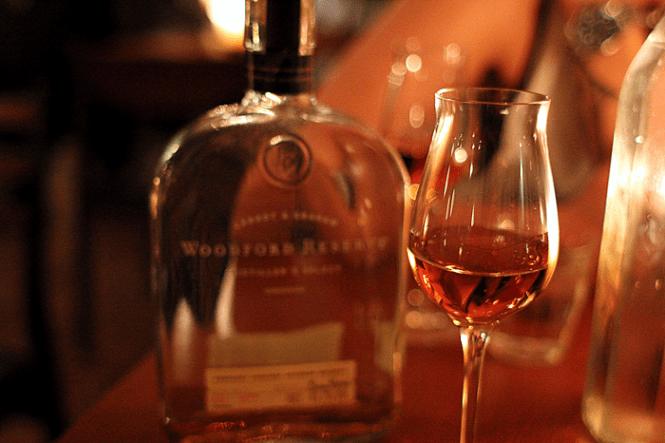 Aftenens afslutning - Bourbon Woodford Reservere...