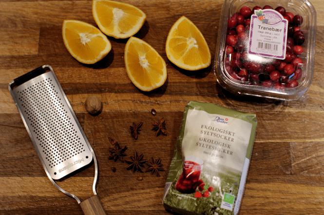 Alt hvad du skal bruge til en lille cranberry sauce...