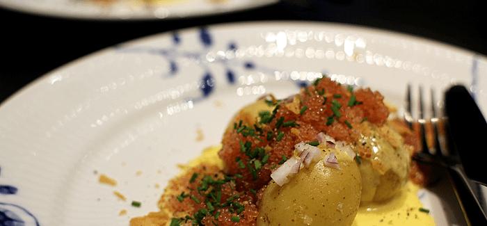 Stenbiderrogn med smørkogte kartofler og verdens bedste sauce…