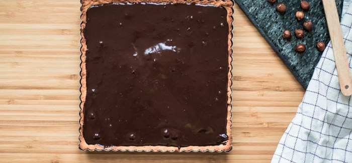 Genialt: Chokoladetærte med hasselnødder på 20 min