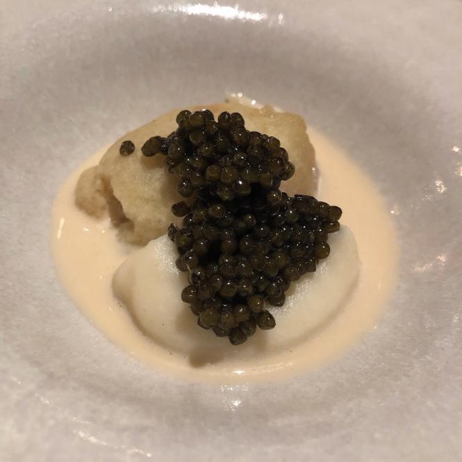 Æble, Caviar og fermenteret asparges