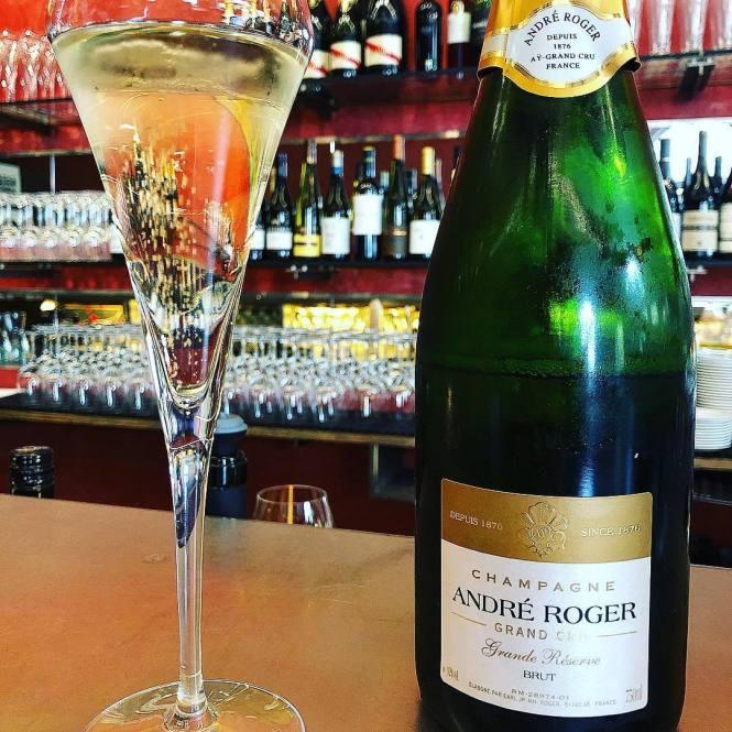 Champagne André Roger på Cafe Hack