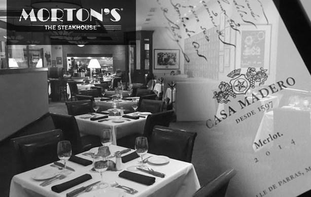 Mortons Steak House, Cena Maridaje