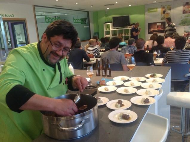 Luis Berzosa, cocinero y profesor
