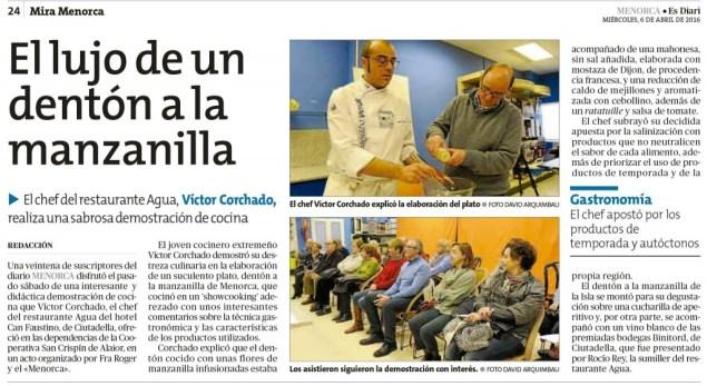 Abril 2016 Victor Corchado Club Diari Menorca