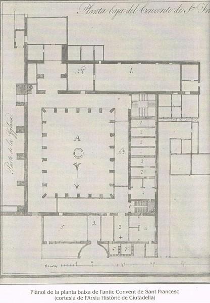 Ciutadella planol Sant Francesc