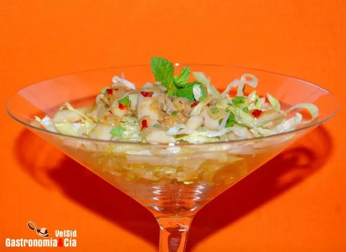 Ensalada de navajas thai