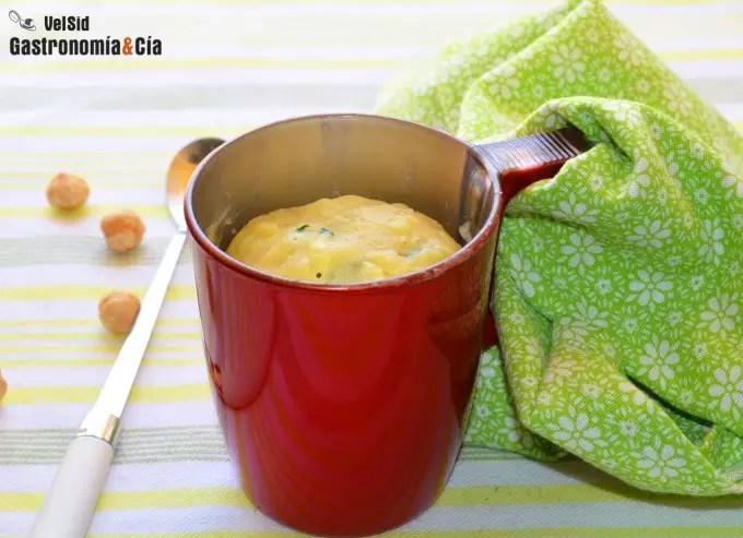 Mug cake de calabacín y queso