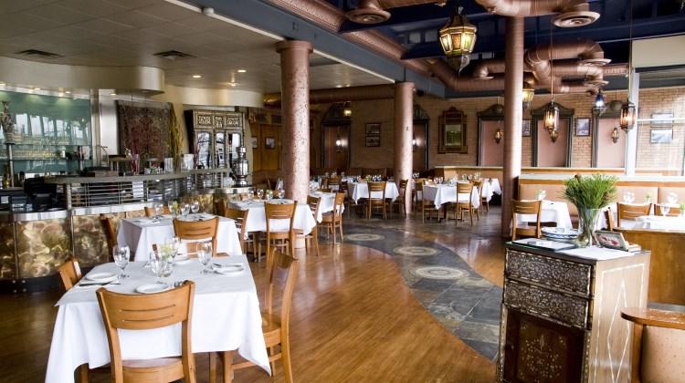 Mazza - beautiful dining room at ninth and ninth location