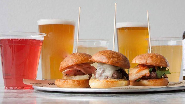 Sliders and beer at BGR Sugar House