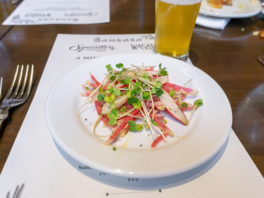 Bambara - Wasatch Summer beer dinner - radish salad