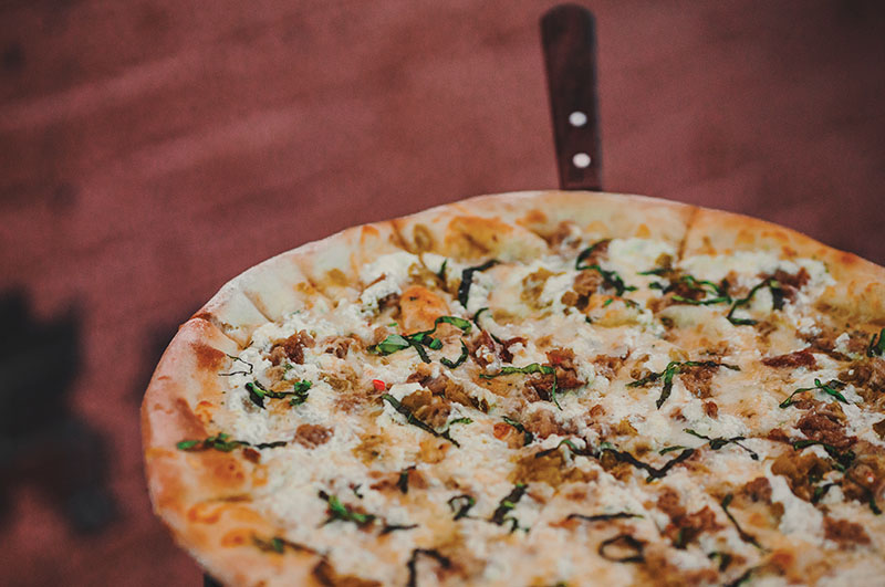 Lucky Slice - twilight pizza (Talyn Sherer, Slug Mag)