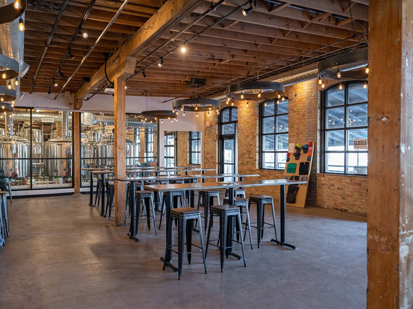 Bewilder Brewing - counter seating