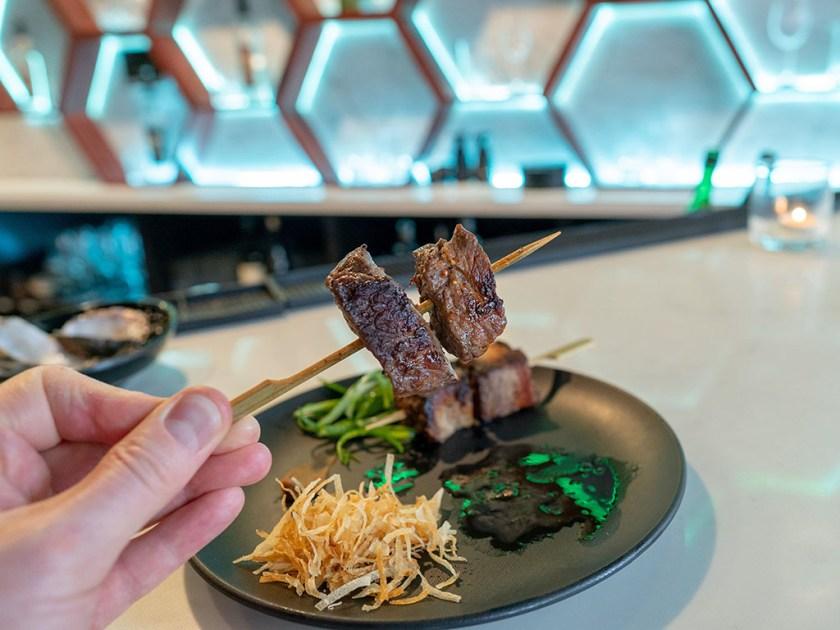 Blue Marlin - wagyu beef kushiyaki