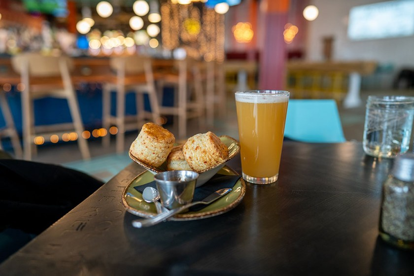 Punh Bowl - biscuits and beer