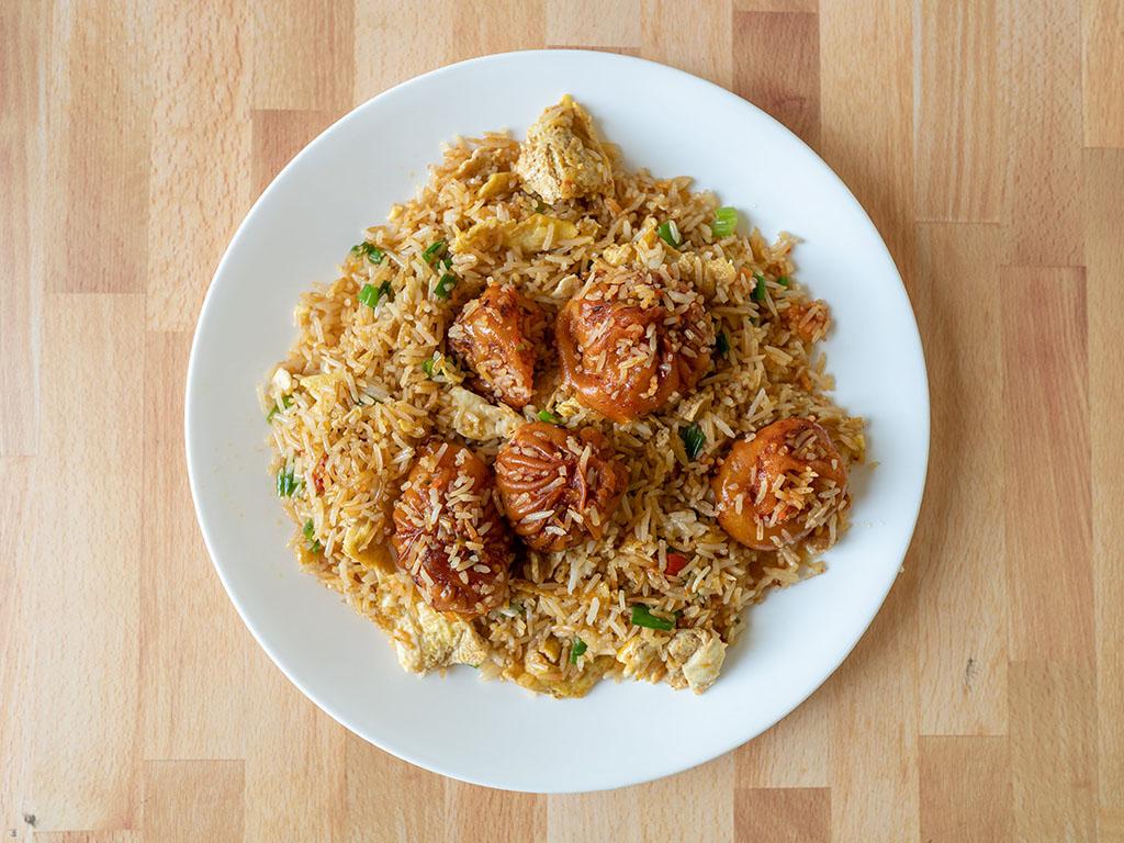 Bhutan House - chicken chilli momo fried rice