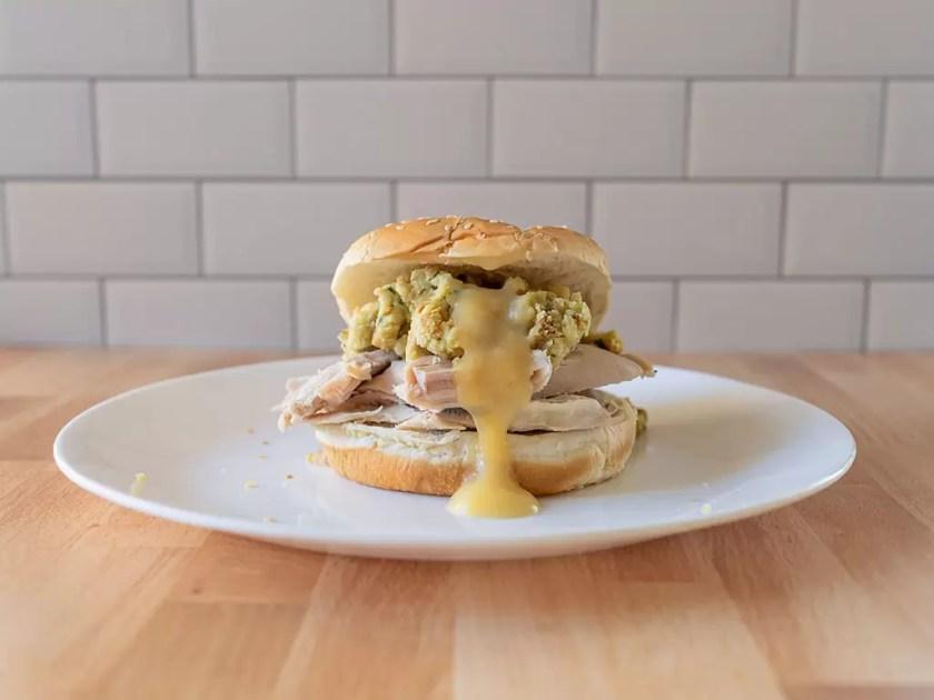 Thanksgiving sandwich with Beltex Turkey