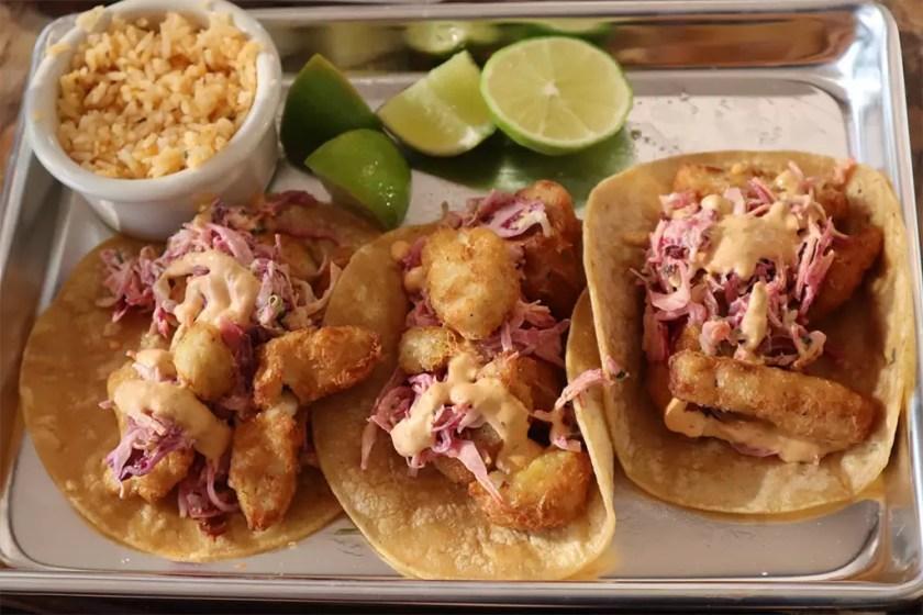 Del Barrio Cafe - Baja fish tacos (Del Barrio)