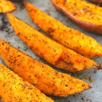 Cartofi Dulci La Cuptor Picanti Cu Ierburi Aromate