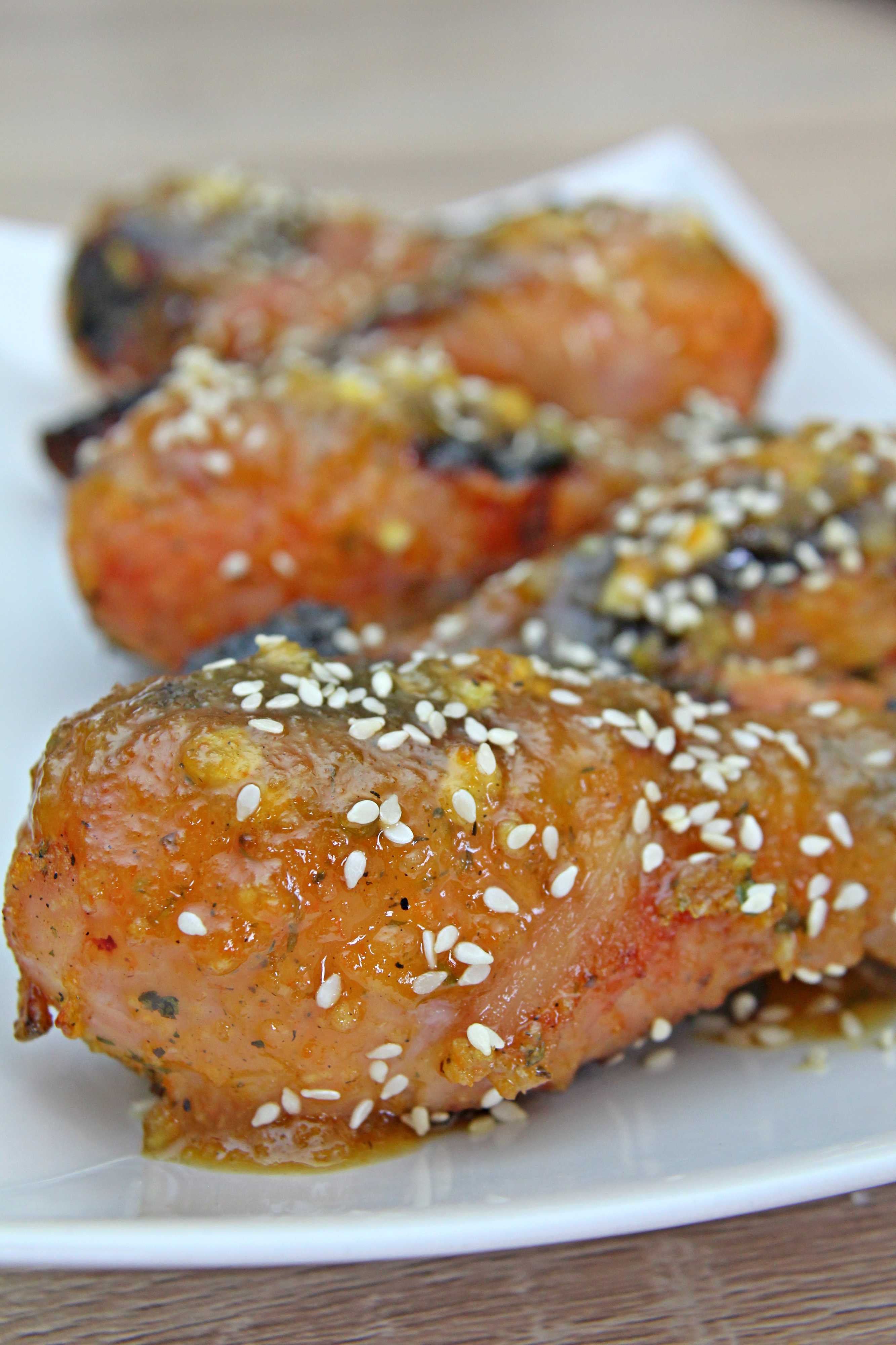 Copanele de pui in sos de portocale