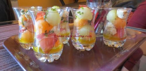 Verrines melon & feta