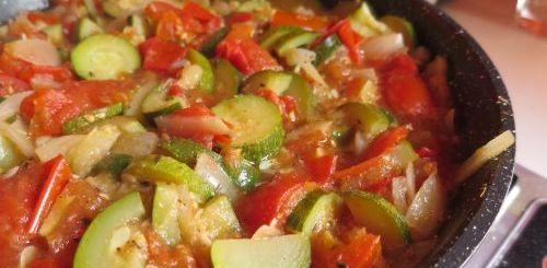Compotée tomates & courgettes
