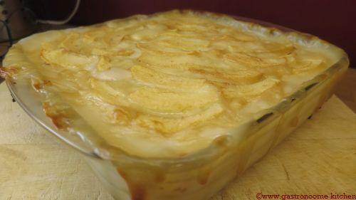 Gâteau aux poires et au lait de coco