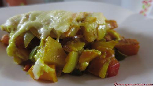 Gratin de légumes au fromage de raclette